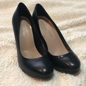 Franco Sarto Black Leather Heels